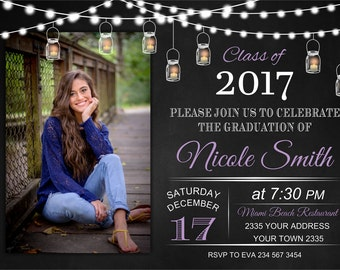 High school graduation invitation etsy graduation invitation high school graduation college graduation invite mason jar ball jar backyard party any color of the text filmwisefo