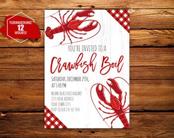 Crawfish Boil Invite Etsy