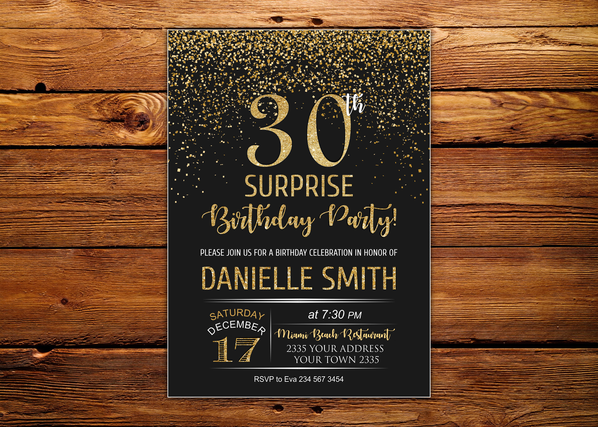 Surprise 30th Birthday Party Invitation 30th Birthday Etsy