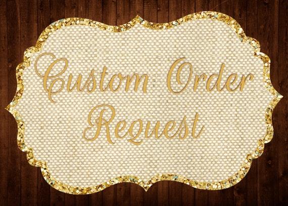 Custom Order Request Custom Invitation Design Custom Etsy
