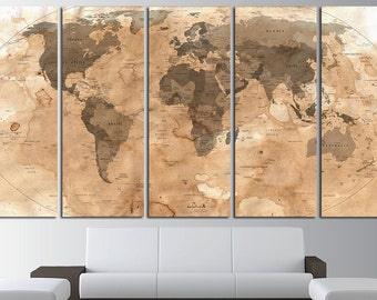 Antique world map | Etsy
