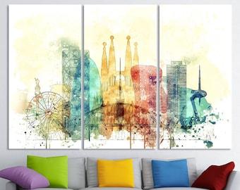 Night View Sagrada Familia Barcelona Spain 3.2 A Wall Art Canvas Picture Print