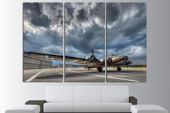 Army Wall Art Aircraft Canvas Art Vintage Airplane Plane