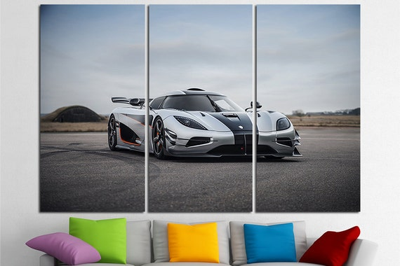 Sports Cars Large Canvas Print Super Sports Cars Wall Art Etsy