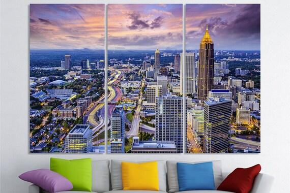 Atlanta Art Georgia Cityscape Atlanta Wall Art Atlanta Skyline | Etsy