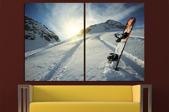 snowboard canvas art snowboard Photo snowboard Wall Art | Etsy
