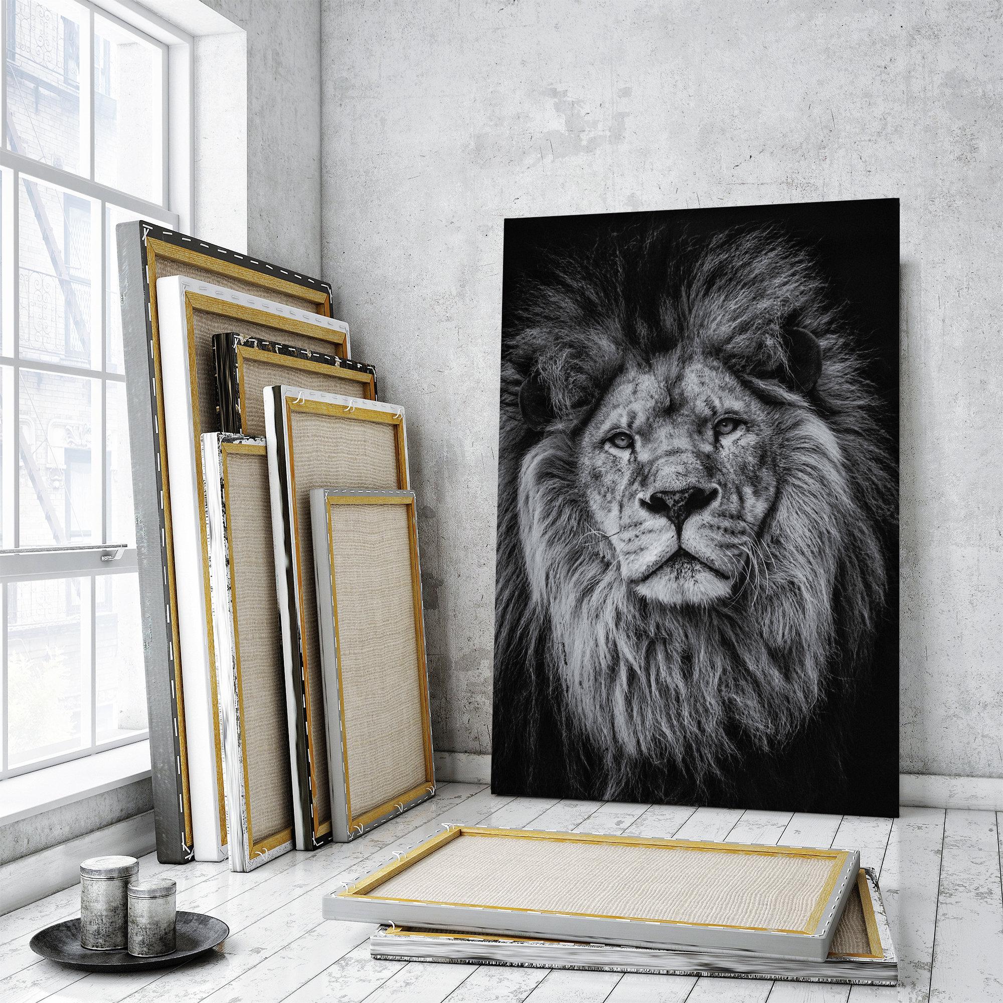 Lion Home Decor Portrait Of Lion Poster Art Print