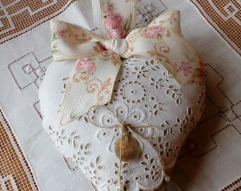 heart in antique linen for mothers day