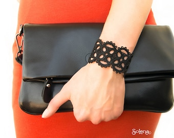 e6878f85b7375 Lacy bracelet Dark chocolate bitter chocolate wristband | Etsy