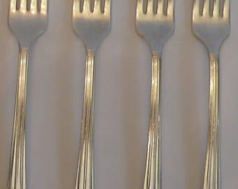 Oneida Silverplate Coronation Four Dinner Forks