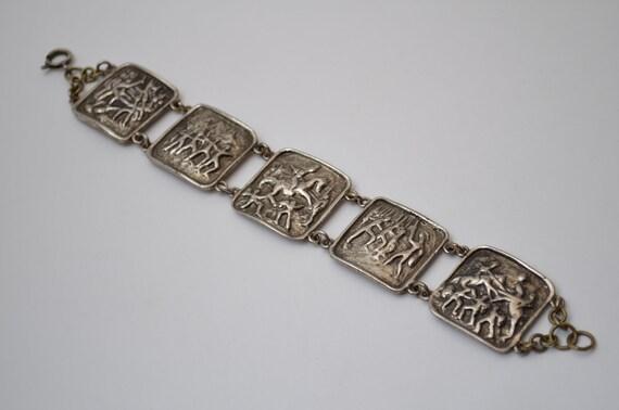 Ancient bracelet, primitive archaeology jewelry, R