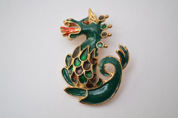 Magical mythical animal, dragon jewelry brooch pin