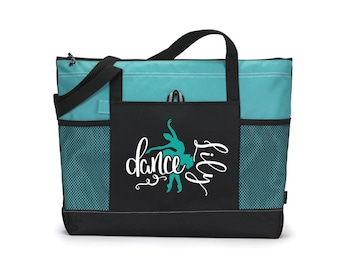 Custom Dance Bag, Dance Tote Bag, Personalized Tote, Turquoise Tote Bag,  Dancer Gift, Ballet Dancer, Personalized Bag, Dance Mom Gift 4cb6bbce25