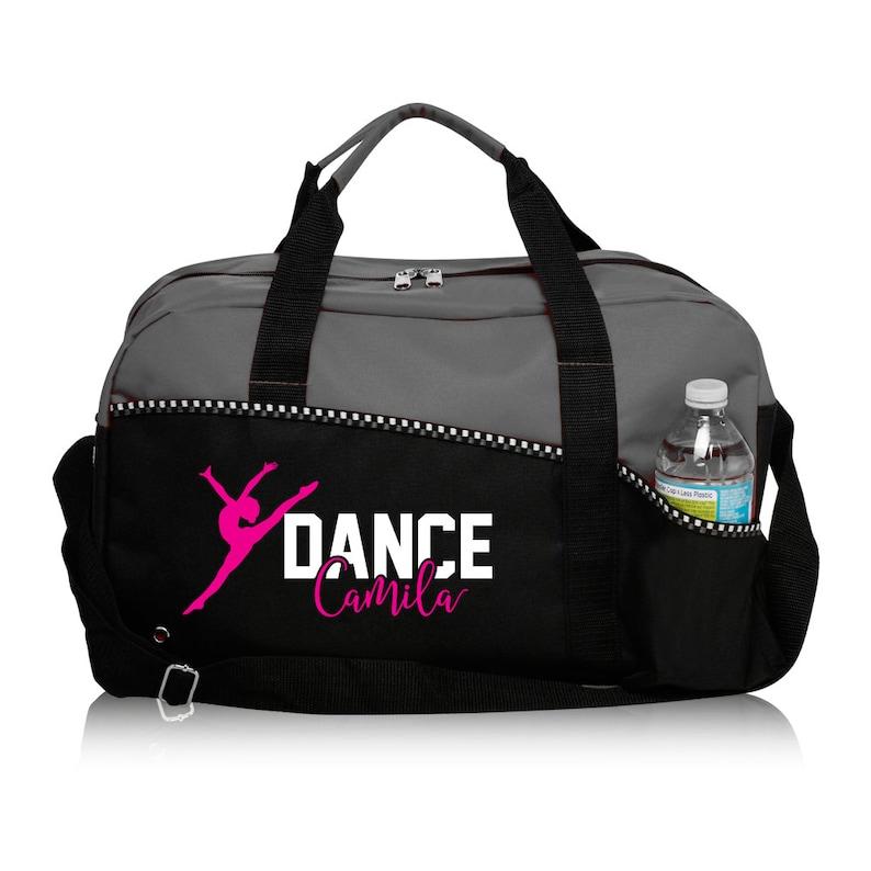 Saco de dança personalizado Saco de dança Saco de duffle personalizado cinza Etsy