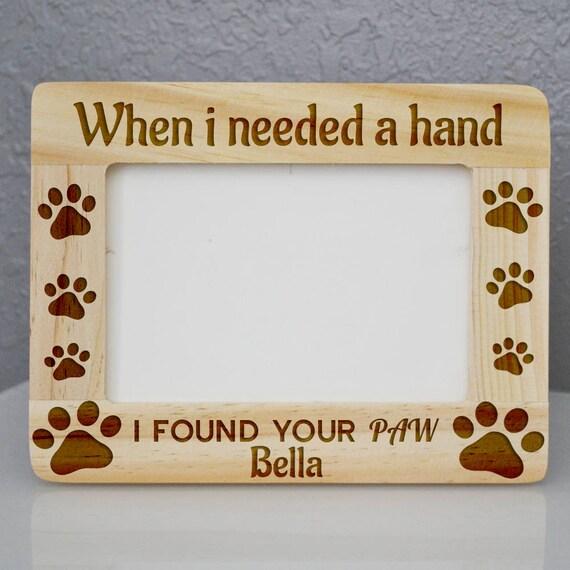 Custom Engraved Dog Wooden Frame 4 x 6 memorial pet frame | Etsy