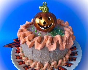 Petite Fall Jack O Lantern Cake