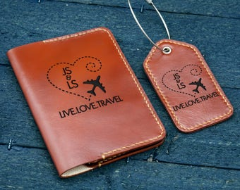 4ae089fa7c00b Personalized Passport holder Luggage Tag   3rd Anniversary gift   Travel  Gift for Mom   Gift for Dad  Gift for Couple   Wedding Gift -PCLG02