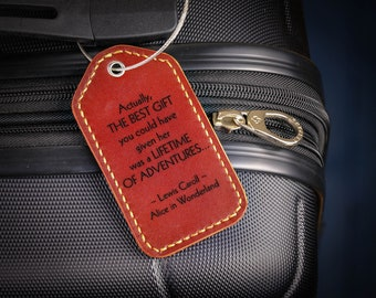 0ff634e0b3bd1 Leather Luggage Tag for Travel Couple