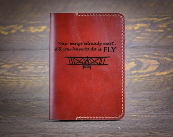 a13e53dc35910 Personalized Passport Holder with Airplane