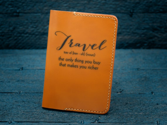 Design Your Own Passport Holder Leather Passport Cover Etsy