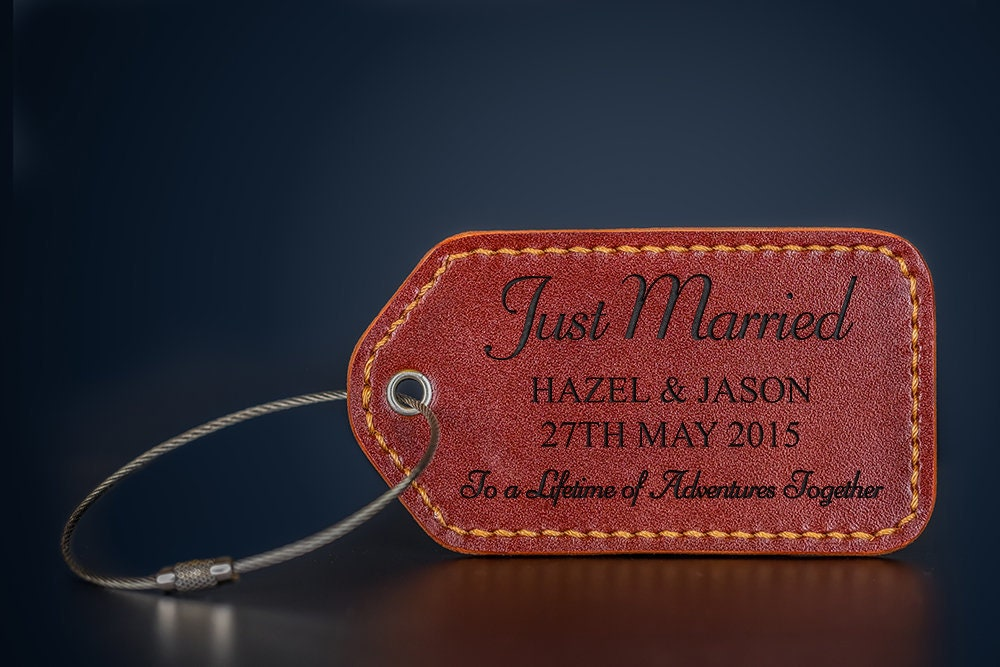 0e2dd66e2346 Newly Wedding Gift/ Just Married Gift / Personalized Luggage Tags ...