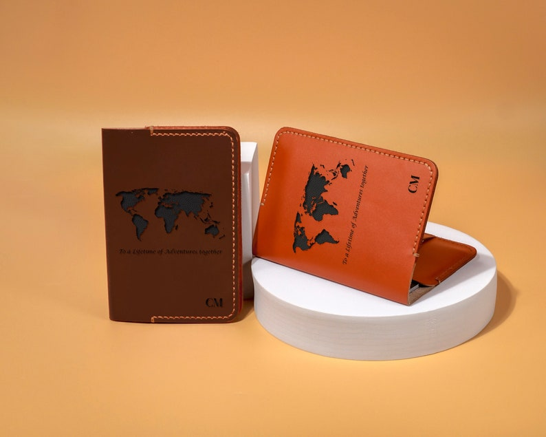 Personalized Passport Holder  Leather Passport Cover  image 1