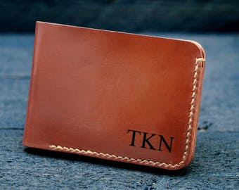 Personalized mens wallet / Mens Wallet / Engraved Wallet / Mens Leather Wallet /  Anniversary Gift/ Gift for men - MW02