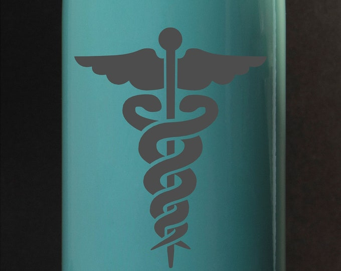 Nursing - rod of Asclepius - Maars 17 oz Stainless Steel Water Bottle