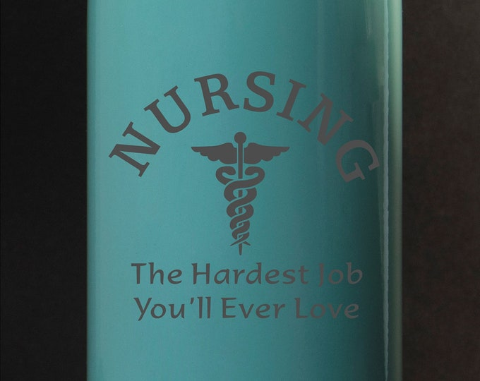 Nursing, The Hardest Job... - Maars 17 oz Stainless Steel Water Bottle