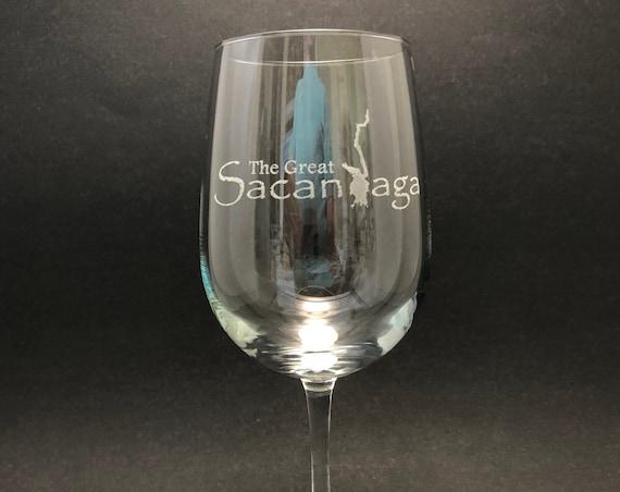 Sacandaga - Etched 18.5 oz Stemmed Wine Glass