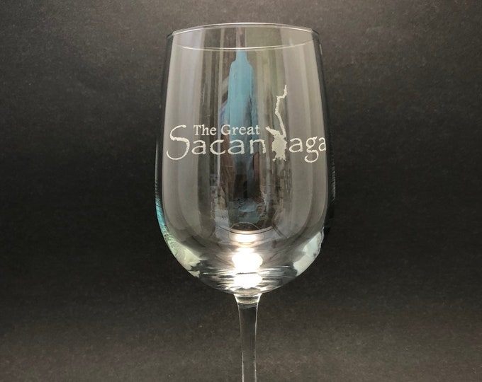 Sacandaga - Etched 18.5 oz Stemmed Wine Glass