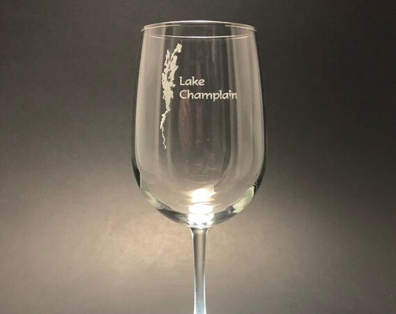 Lake Champlain  - Etched 18.5 oz Stemmed Wine Glass
