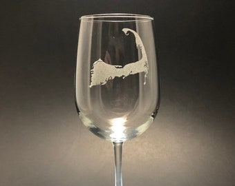 Cape Cod - Etched 18.5 oz Stemmed Wine Glass