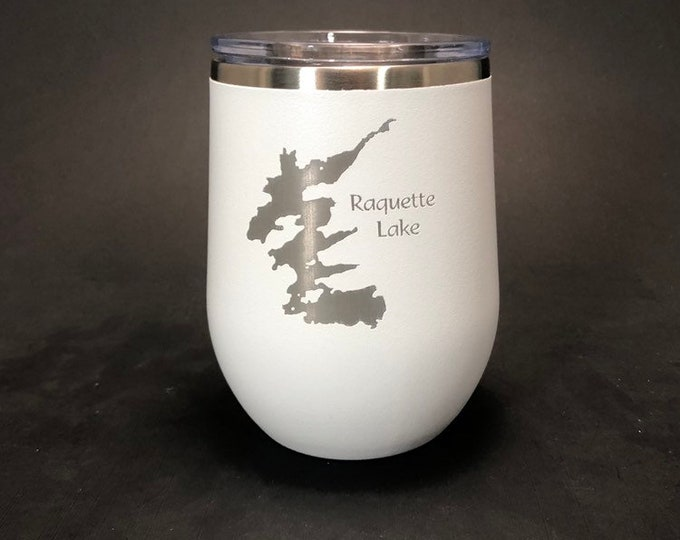 Raquette Lake - FREE SHIPPING  - 12 oz Polar Stemless Wine