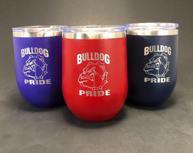 Bulldog Pride  - 12 oz Polar Stemless Wine