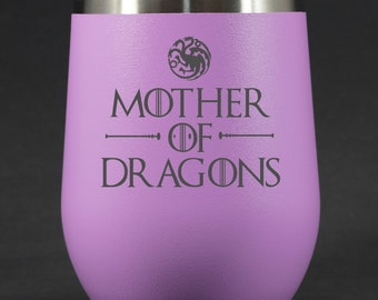 Mother of Dragons - 12 oz Polar Stemless Wine - Game of Thrones