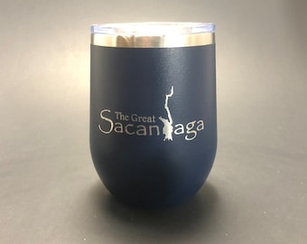 The Great Sacandaga Lake - 12 oz Polar Stemless Wine