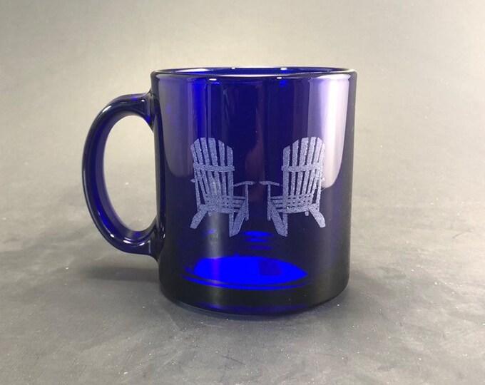 Adirondack Chairs - Cobalt Blue 13 oz Glass Hot Beverage Mug