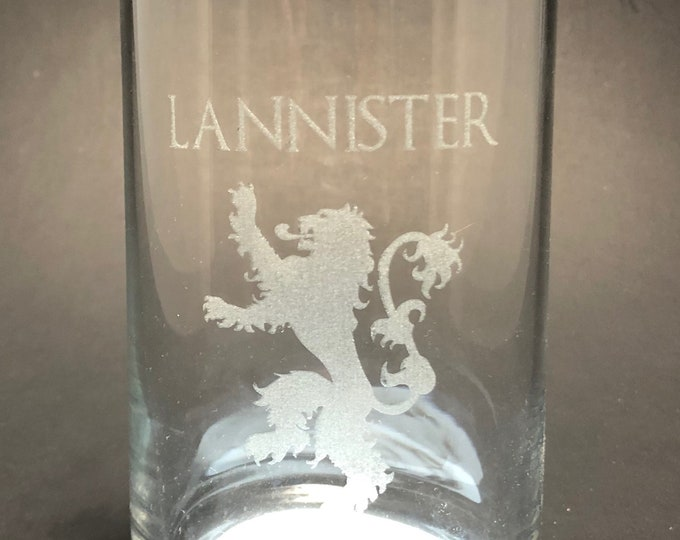 GOT Sigil - Laser etched 16 oz Can Glass - Game of Thrones