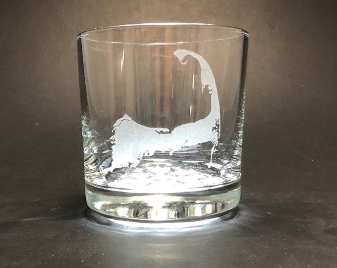 Cape Cod - Etched 10.25 oz Rocks Glass