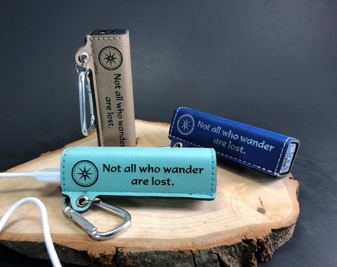 Not all who wander are Lost - Power Bank - Leatherette