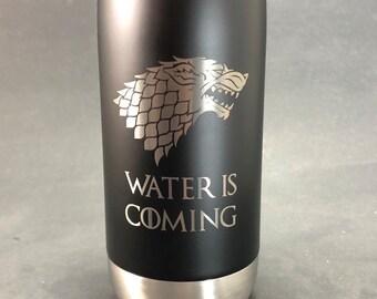 Water is Coming - Maars 17 oz Stainless Steel Water Bottle