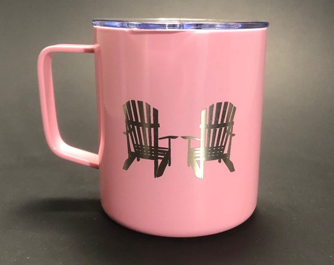 Adirondack Chairs - 14 oz Stainless Steel Handled Mug