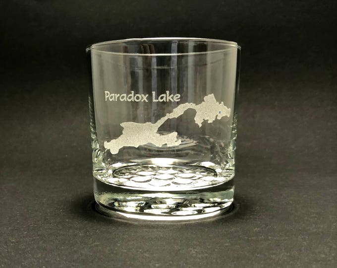 Paradox Lake - Etched 10.25 oz Rocks Glass - Paradox Lake  New York