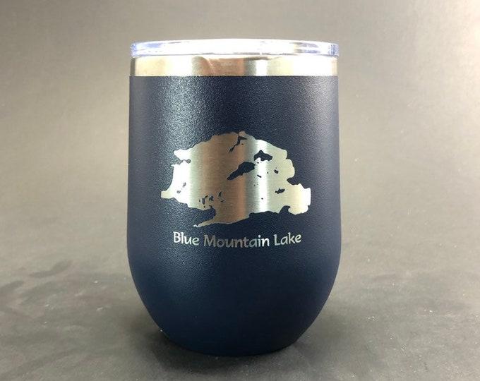 Blue Mountain Lake - FREE SHIPPING - 12 oz Polar Stemless Wine