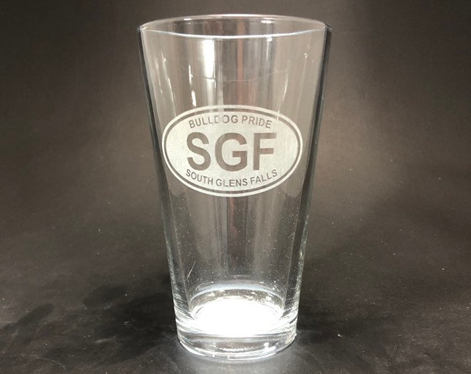 South Glens Falls Bulldog Pride - Etched Pint Glass