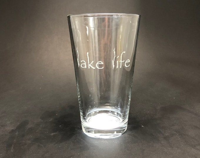 Lake George Lake Life - Etched Pint Glass