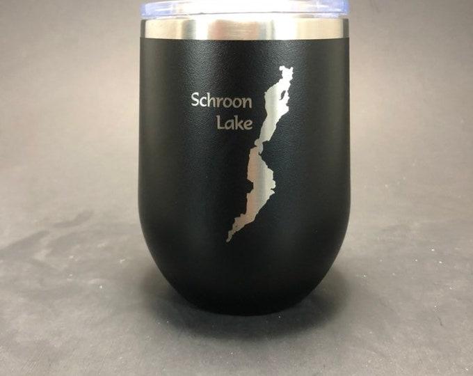 Schroon Lake - FREE SHIPPING - 12 oz Polar Stemless Wine