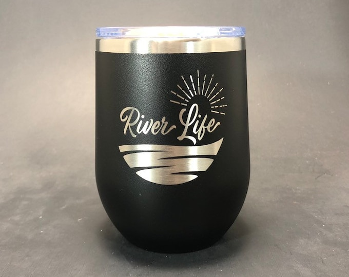 River Life - FREE SHIPPING  - 12 oz Polar Stemless Wine