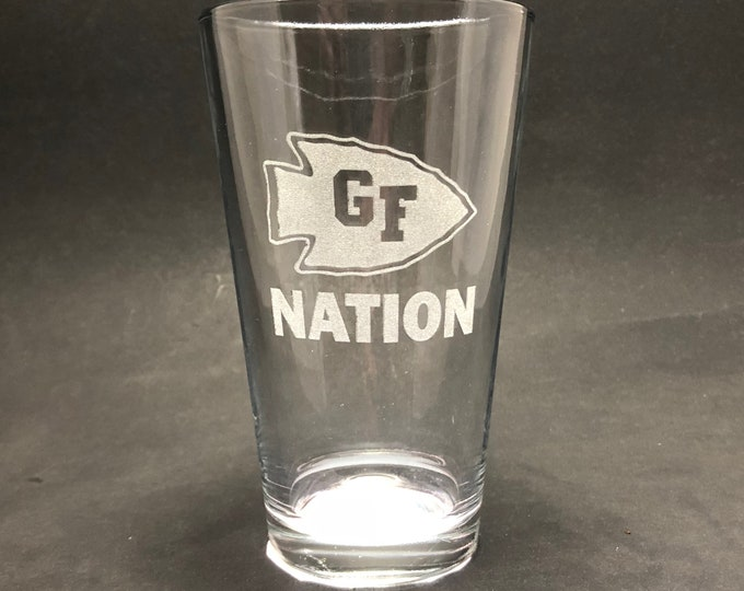 GF NATION  - Etched Pint Glass